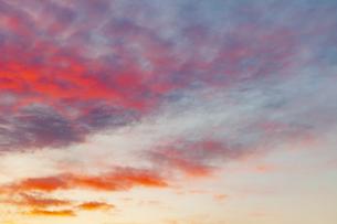 夕焼けの空 春の写真素材 [FYI04667017]