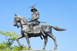 仙台城伊達政宗公像の写真素材 [FYI04667057]