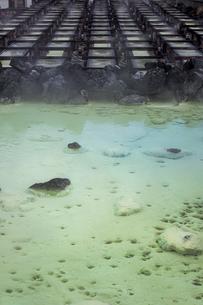 草津温泉のシンボル・湯畑の写真素材 [FYI04667283]