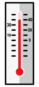 猛暑日の温度計のイラスト素材 [FYI04667799]