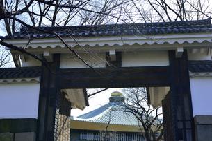 田安門から見た日本武道館の写真素材 [FYI04667976]