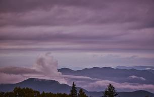 美ヶ原高原からの夕暮れの写真素材 [FYI04668327]