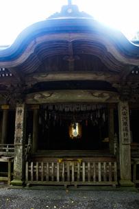 高千穂の風景 天岩戸神社 西本宮(神楽殿)の写真素材 [FYI04668362]