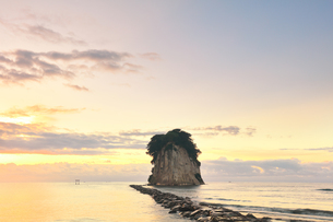 能登半島国定公園 朝の見附島の写真素材 [FYI04668632]