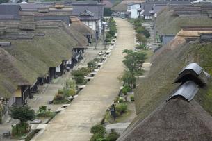 福島県大内宿の家並みの写真素材 [FYI04668891]