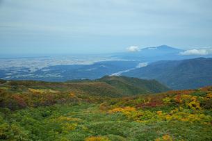色づく山の写真素材 [FYI04668943]