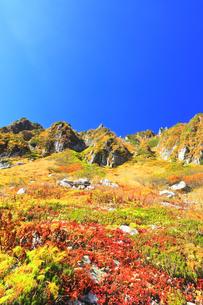 秋の中央アルプス千畳敷カールの写真素材 [FYI04669230]