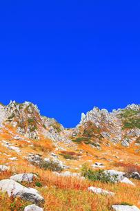 秋の中央アルプス千畳敷カールの写真素材 [FYI04669234]
