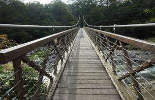 栃木県那須塩原市七ツ岩吊橋の写真素材 [FYI04669432]