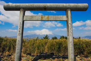 御殿場市の天下第一峰(しるこ屋横の鳥居さん)から富士山を遠望の写真素材 [FYI04669528]