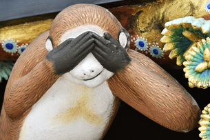 神厩舎 猿の彫刻12の写真素材 [FYI04669872]
