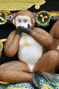 神厩舎 猿の彫刻14の写真素材 [FYI04669874]