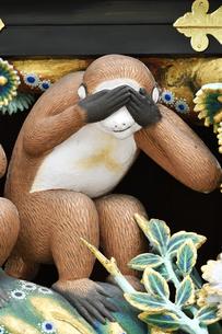 神厩舎 猿の彫刻15の写真素材 [FYI04669875]