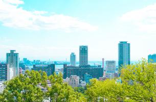 関西の風景 神戸市都心 アニメのような街並みの写真素材 [FYI04669976]