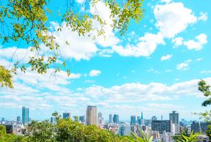 関西の風景 神戸市都心 アニメのような街並みの写真素材 [FYI04669977]