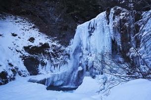 善五郎の滝 凍結の滝の写真素材 [FYI04670096]