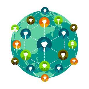 グローバルコミュニケーション/ビジネスイメージイラストのイラスト素材 [FYI04670241]
