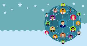 グローバルコミュニケーション・ソーシャルネットワーク(SNS) /イメージバナーのイラスト素材 [FYI04670244]