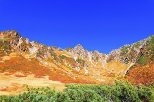 秋の中央アルプス千畳敷カールの写真素材 [FYI04670713]