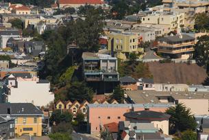 ツインピーク展望台からサンフランシスコの街並みの写真素材 [FYI04670761]