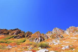 秋の中央アルプス千畳敷カールの写真素材 [FYI04670789]