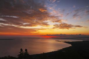 サロマ湖の朝の写真素材 [FYI04670934]