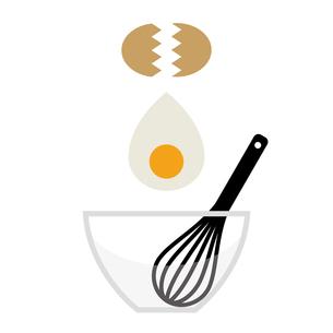 ボウルに卵を割り入れるイラストのイラスト素材 [FYI04671067]