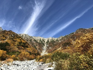 筋雲と穂高連峰の写真素材 [FYI04671081]