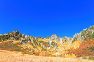 秋の中央アルプス千畳敷カールの写真素材 [FYI04671176]