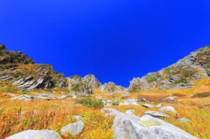 秋の中央アルプス千畳敷カールの写真素材 [FYI04671179]