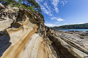 竜串海岸の様々な奇岩風景の写真素材 [FYI04671264]