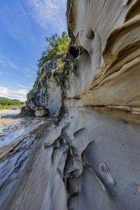 竜串海岸の様々な奇岩風景の写真素材 [FYI04671282]