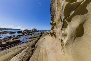 竜串海岸の様々な奇岩風景の写真素材 [FYI04671296]