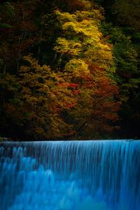 紅葉と滝の写真素材 [FYI04671380]