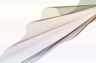 仮想空間の波線のワイヤーメッシュのアブストラクト背景のイラスト素材 [FYI04672137]