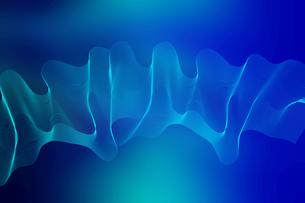 仮想空間の波線のワイヤーメッシュのアブストラクト背景のイラスト素材 [FYI04672163]