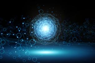 医療分子技術の仮想空間なアブストラクトの背景のイラスト素材 [FYI04672180]