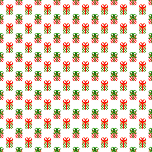 クリスマス パターン素材 プレゼントボックス (1_1)のイラスト素材 [FYI04672185]