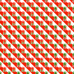 クリスマス パターン素材 プレゼントボックス (1_2)のイラスト素材 [FYI04672186]