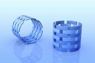 円筒状の立体物 CGのイラスト素材 [FYI04673713]