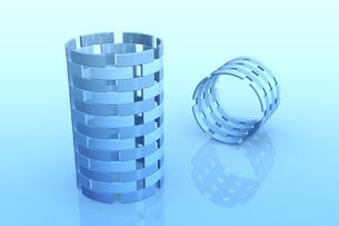 円筒状の立体物 CGのイラスト素材 [FYI04673714]