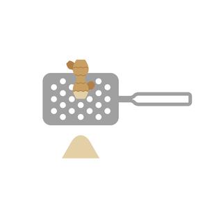 生姜をすりおろすイラストのイラスト素材 [FYI04673805]
