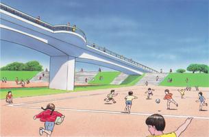 陸橋公園のイラスト素材 [FYI04673834]
