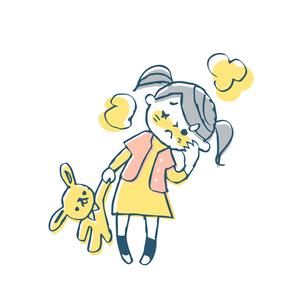 熱がある女の子のイラスト素材 [FYI04673987]