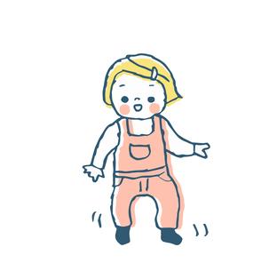 よちよち歩きの女の子 のイラスト素材 [FYI04673995]