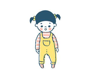 小さな女の子のイラスト素材 [FYI04673997]