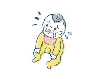 泣く赤ちゃんのイラスト素材 [FYI04673999]