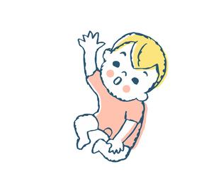 見上げる赤ちゃんのイラスト素材 [FYI04674005]