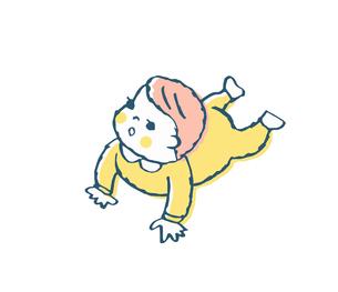 ハイハイする赤ちゃんのイラスト素材 [FYI04674008]