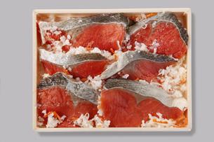 紅鮭の飯寿司の写真素材 [FYI04674114]